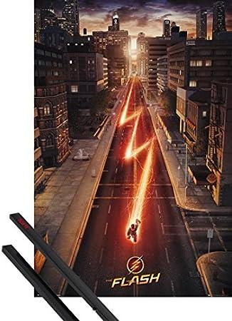 - Affiche De Cin/éma MDF 91 x 61cm 1art1 The Flash Poster et Cadre