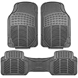 FH Group F11306GRAY Gray All Weather Floor Mat, 3 Piece (Full Set Trimmable Heavy Duty): more info