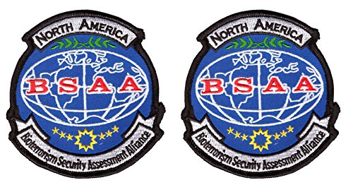 Bsaa Costume (Set of 2 BSAA North America Resident Evil Costume Cosplay Shoulder Patches)