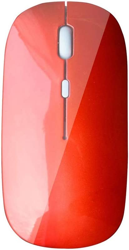 Mouse Color : Red USB Port Feels Comfortable L112mm /× W58mm /× H24mm ka Wireless Computer Mouse Mute and Smooth Suitable for PC//Tablet//Laptop