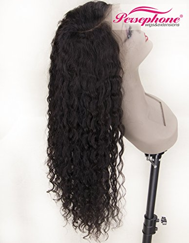 Persephone Real Looking Pre Plucked 360 Lace Wig with Baby Hair 150% Density Brazilian Curly Lace Front Human Hair Wigs for Black Women 14inches Natural Brown Color by Persephone Lace Wig (Image #6)