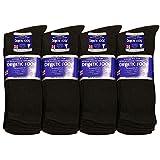 12 Pairs Diabetic Socks Men Unisex Crew 13-15 Black