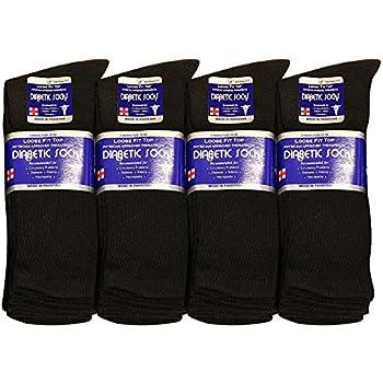 Diabetic Socks Men Unisex Size 9-11 Black 63-7040-12PAIRS