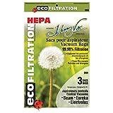 Beam , Eureka , Electrolux , Kenmore & Nilfisk Central Vacuum Hepa Bag (6 per pack) From Johnny Vac