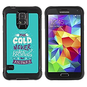"Hypernova Defender Series TPU protection Cas Case Coque pour Samsung Galaxy S5 V [Fría Alaska cita divertida nieve del invierno""]"