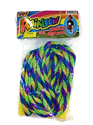 14' Rope (Jump Rope by 2GoodShop | Rainbow Double Jump Rope for Outdoor Games Rope is 14 Feet Long | Item #1998)