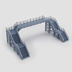 Outland Models Railway Scenery Overhead Footbridge (Without Canopy) 1:160 N Scale