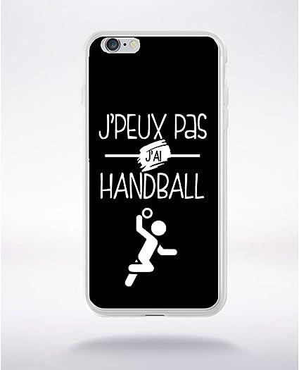 Générique Coque j'peux Pas J'Ai Handball 9 Compatible iphone 6 Transparent