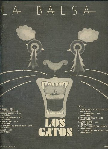 Los Gatos - LOS GATOS La Balsa LP Argentina Classic Rock - Amazon.com Music