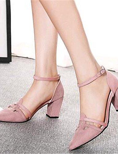 vell¨®n tacones tacones Mujer Pink Casual Zq De exterior tac¨®n us8 Rosa Zapatos Uk6 Eu39 negro Robusto Cn39 4qzwR