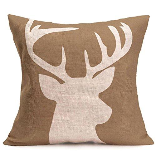 BPFY 4 Pack Home Decor Cotton Linen Sofa Animals Throw Pillow Case Cushion Cover 18 x 18 Inch (Elephant,Panda,Deer,Dragonfly) by BPFY (Image #4)