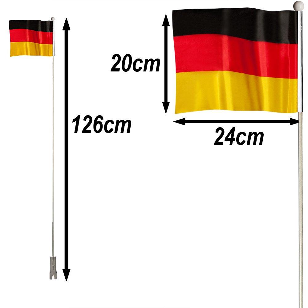 Flagge Fußball Fahrradflagge Deutschland WM 2 Stück Dekofahne EM Fahne