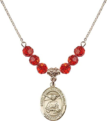 Catherine Laboure Pendant Including 18 Inch Necklace Catherine Laboure Pendants St Gold Plated St