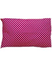 Soft Polycotton Pillow By Valentini, Pink, Queen size, 50 * 75 cm