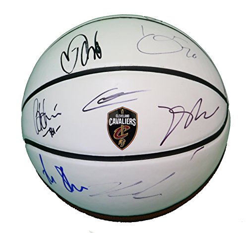 Signed Basketball Team (Cleveland Cavaliers 2017-18 Team Autographed Signed White Panel Basketball Rose Korver Crowder)