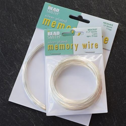 Silver Plated Memory Wire | 3mm End Caps (Pack of 10) | Many Colours & Sizes | Free Delivery Bluestreak Crystals