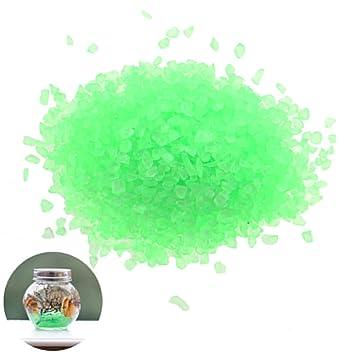 7thLake - Mini grava de cristal teñido para acuario, tortuga, pecera, paisaje, decoración inferior, verde: Amazon.es: Jardín