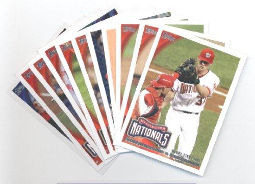 National Baseball Card - 2010 Topps Baseball Cards Washington Nationals Team Set Update (Series 3) - 11 Cards including Stephen Strasburg, Matt Capps, Wilson Ramos Rookie Card, Drew Storen Rookie Card, Luis Atilano Rookie Card & more!