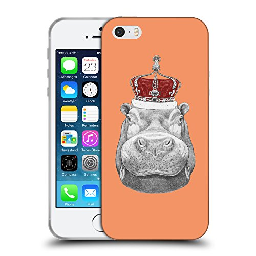 GoGoMobile Coque de Protection TPU Silicone Case pour // Q05260607 hippopotame Tangerine atomique // Apple iPhone 5 5S 5G SE