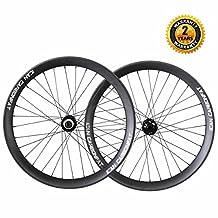 ICAN 26er Carbon Fiber Fat Bike Wheelset Clincher Compatible Tubeless 65mm Width 32 Holes Rim Shimano 10/11 Speeds