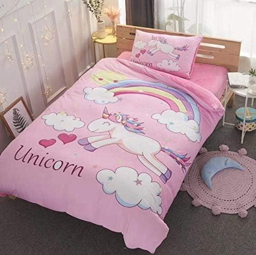 Amazon Com Allerassa Unicorn Duvet Cover Bedding Sets Rainbow