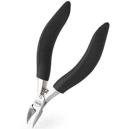 BEZOX Alicates Cortaúñas de Precisión para uñas Gruesas con Hongos o Incrustadas con Estuche de Metal