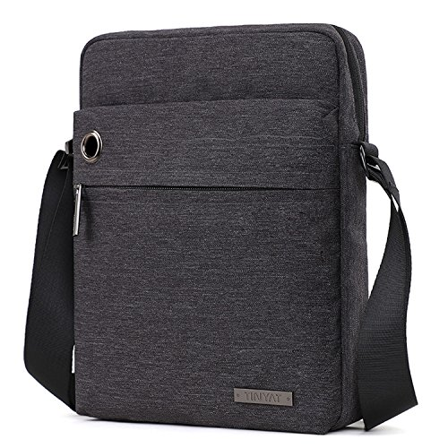 TINYAT Fashion Men's Shoulder Bag Handbags Briefcase for the Office Messenger Bag T550 Black Mini Messenger Bag