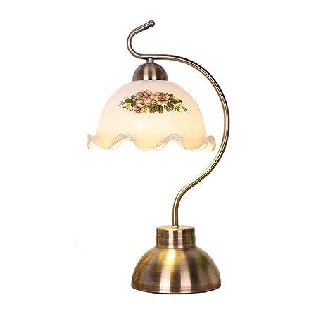 Iluminación, lámpara de mesilla de noche Lámpara de mesa vintage ...