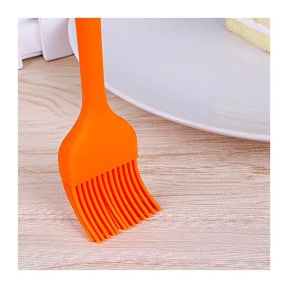 BERTERI 3 in 1 BBQ Grill Brush Scrapers for Barbecue Cleaning with 1 Free Silicone Basting Brush, Multifunction - Comfortable Handle, Perfect Cleaner Scraper for Grill Cooking Grates/Racks/Burners 8 HIGH QUALITY - This grill cleaner has high quality brass bristles, metal scraper, and scrub pad. UNIQUE DESIGN - The solid stainless steel scraper perfectly angled to help penetrate and clear away stuck-on grime. LONG LASTING - The bristle is great for all surfaces including porcelain, stainless steel and cast iron;The sponge scrubber helps to wipe grill clean, ergonomic design plastic handle is easy and comfortable.
