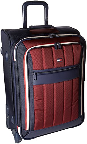 (Tommy Hilfiger Classic Sport 25 Inch Expandable Luggage, Navy/Burgundy, One Size)