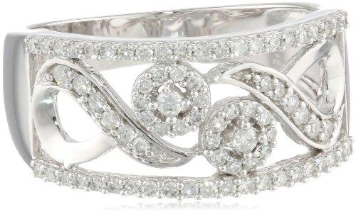10k White Diamond 0.45cttw Ring, Size 6