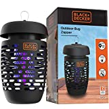 3. BLACK+DECKER Bug Zapper Electric Insect Control For Flies, Gnats, Mosquitoes & Others For Indoor & Outdoor Use Covers Up to 625 Square Feet