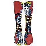Eplus Poker King Unisex Funny Casual Long Stockings Athletic Sports Socks Towel Bottom Sox