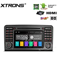 XTRONS HDMI Android 7.1 Quad Core 7 Inch HD Digital Touch Screen Car Stereo Radio DVD Player GPS for Mercedes Benz ML-W164 GL-X164