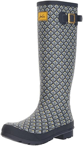 Print Rain Geo Women's Joules French Boot Welly Navy Feather pAzSwtxE