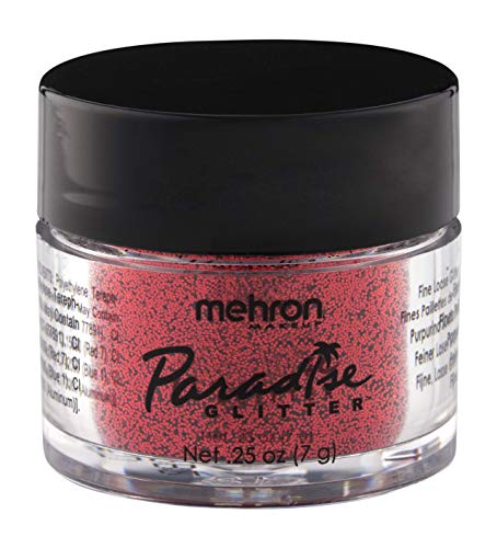 (Mehron Makeup Paradise AQ Glitter (0.25 oz) (RED))