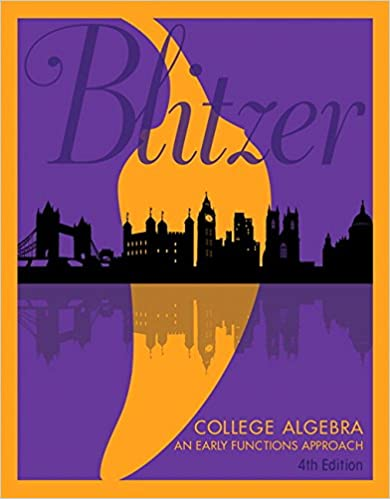 College algebra an early functions approach 4th edition robert f college algebra an early functions approach 4th edition 4th edition fandeluxe Gallery