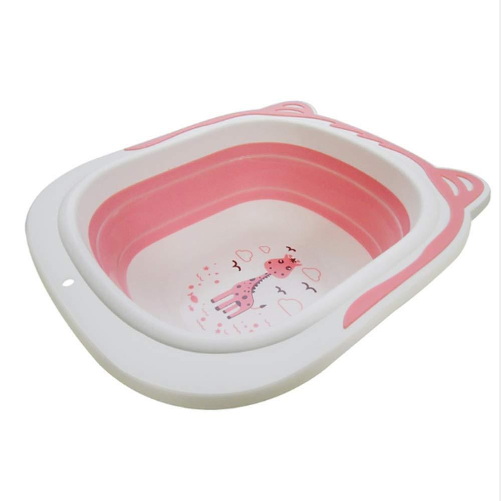 Miyabitors Folding Washbasin Tourism Outdoor Portable Folding Washbasin Washbasin Large (Color : Pink) by Miyabitors