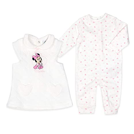 Disney Baby Set Chica Corazones Blanco Diseño: Minnie Mouse - Pelele ...