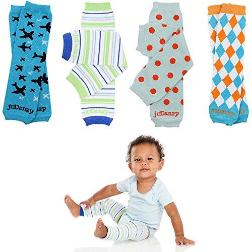Newborn Organic Baby Leg Warmers (Newborn-15 pounds) (Organic Boys 4-Pack)