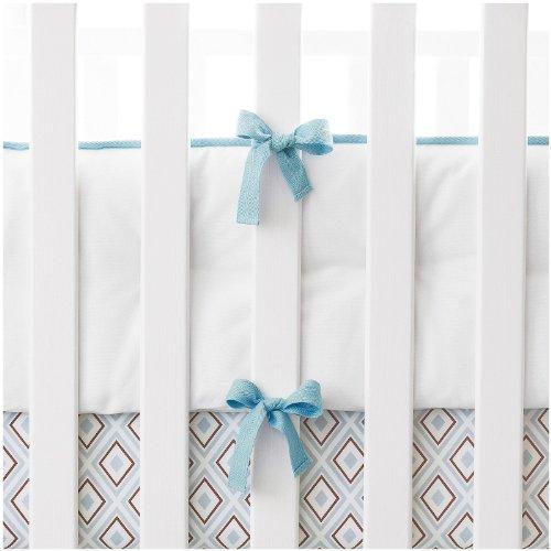Serena & Lily Nursery Basics Crib Bumper - Aqua - Serena & Lily Crib Bumper