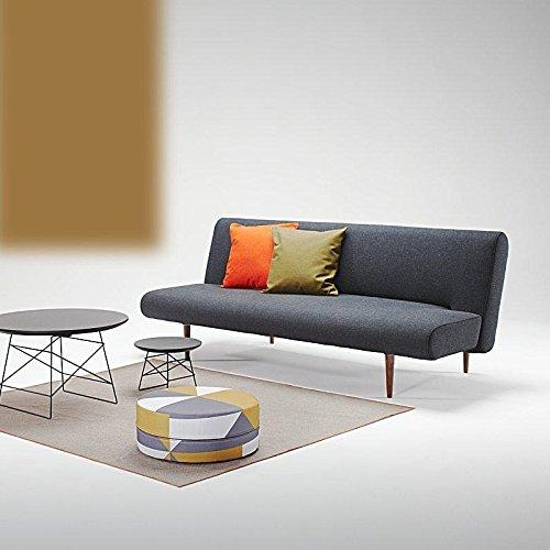 Innovation Unfurl Schlafsofa, schwarz Gestell Holz Stoff 514 Nist Black Liegefläche 120 x 200cm