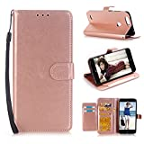 ZTE Blade Z Max Case, ZTE Sequoia Case,ZTE Blade Zmax Pro 2 Case, Alkax PU Leather Wallet with Kickstand Card Slot Holder Premium Flip Cover Strap Magnetic Protective Women Men for ZTE Z982(Rose Gold) Review