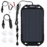 Sunway Solar Car Battery Trickle Charger & Maintainer 8W Solar Panel Power Charger kit Portable Backup Waterproof For Automotive RV Marine Boat Truck Motorcycle Trailer Tractor Powersports Snowmobile