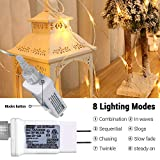 Joomer 12ft x 5ft 360 LED Connectable Christmas Net Lights,8 Modes Low Voltage Mesh Fairy String Lights for Christmas Trees, Bushes, Wedding, Garden, Outdoor Decorations