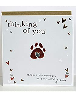 Pet sympathy condolence card loss of your dog carte blanche greeting ltd m4hsunfo
