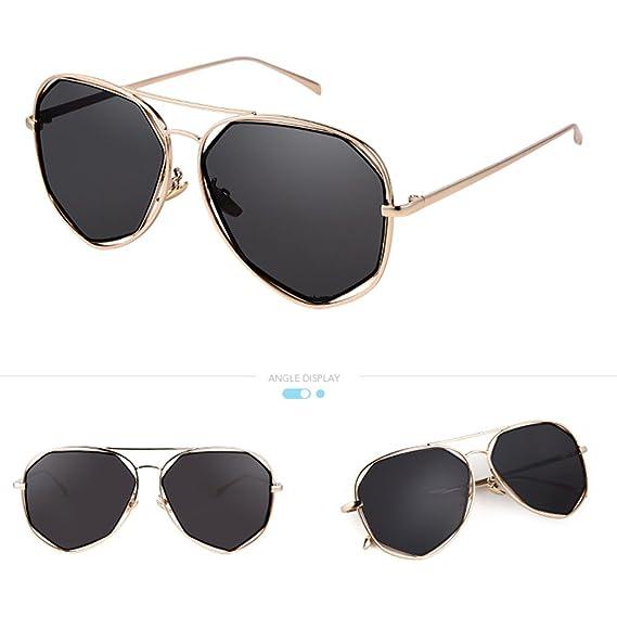 ZHIRONG Mode High-Definition Polarisierte Licht Sonnenbrille Unregelmäßige Polygon Sonnenschutzgläser Kühle Neutral Sonnenbrille ( Farbe : C ) A6fxI7Lk4E