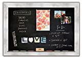 Magnetic Chalkboard with Torino Silver Frame