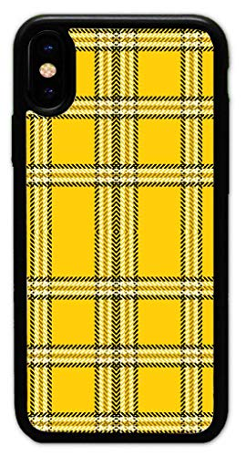 Yellow Plaid Hard Plastic Phone Cell Case for iPhone XR 6.1