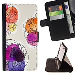 Jordan Colourful Shop - floral watercolor painting summer purple For Apple Iphone 6 PLUS 5.5 - Leather Case Absorci???¡¯???€????€??????&aci